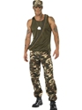 Adult Mens Khaki Camo Army Costume Thumbnail