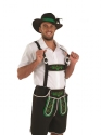 Adult Bavarian Man Lederhosen Costume  - Back View - Thumbnail
