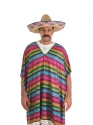 Adult Mexican Striped Poncho  - Back View - Thumbnail