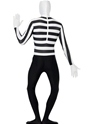 Adult Mime Second Skin Costume  - Side View - Thumbnail