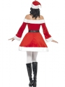 Ladies Miss Santa Costume  - Side View - Thumbnail
