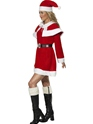 Adult Miss Santa Red Fleece Costume  - Back View - Thumbnail
