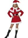 Adult Miss Santa Red Fleece Costume Thumbnail