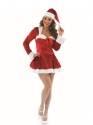 Adult Missy Clause Costume  - Back View - Thumbnail
