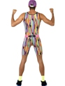 Adult Mr Motivator Costume  - Side View - Thumbnail