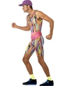 Adult Mr Motivator Costume  - Back View - Thumbnail