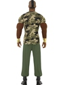 Adult Mr T Premium Camouflage Costume  - Side View - Thumbnail