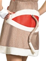 Adult Ms. Sock Monkey Costume  - Back View - Thumbnail
