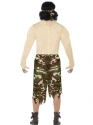Adult Muscleman Soldier Costume  - Side View - Thumbnail