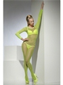 Adult Neon Green Crotchless Fishnet Body Stocking  - Back View - Thumbnail