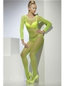 Adult Neon Green Crotchless Fishnet Body Stocking Thumbnail