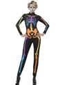 Adult Neon Skeleton Jumpsuit Costume Thumbnail