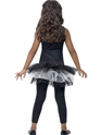 Child Skeleton Tutu Costume  - Side View - Thumbnail