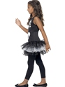 Child Skeleton Tutu Costume  - Back View - Thumbnail