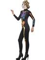 Adult Neon Skeleton Jumpsuit Costume  - Back View - Thumbnail