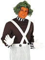 Adult Oompa Loompa Factory Worker Costume with Wig  - Back View - Thumbnail