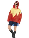 Parrot Party Poncho Festival Costume  - Back View - Thumbnail