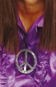 Peace Sign Medallion  - Side View - Thumbnail