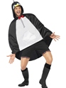 Penguin Party Poncho Festival Costume  - Back View - Thumbnail