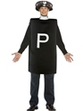 Adult Pepper Pot Costume  - Back View - Thumbnail