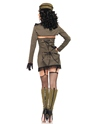 Adult Pin Up Army Girl Costume  - Back View - Thumbnail