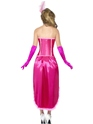 Adult Pink Burlesque Dancer Costume  - Side View - Thumbnail