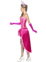 Adult Pink Burlesque Dancer Costume  - Back View - Thumbnail