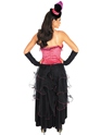 Adult Pink Burlesque Dress Costume  - Side View - Thumbnail
