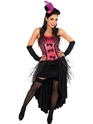Adult Pink Burlesque Dress Costume Thumbnail