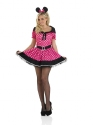 Adult Pink Missy Mouse Costume  - Back View - Thumbnail