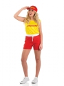 Adult Female Lifeguard Costume  - Back View - Thumbnail