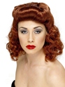 Pin-Up Girl Wig Auburn  - Back View - Thumbnail