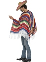 Adult Mexican Poncho  - Side View - Thumbnail