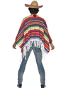 Adult Mexican Poncho  - Back View - Thumbnail
