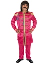 Pop Sergeant Pink Costume  - Back View - Thumbnail