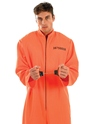 Adult Prisoner Male Costume  - Back View - Thumbnail