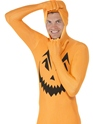 Adult Pumpkin Second Skin Costume  - Back View - Thumbnail