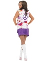 Adult Purple Hippie Costume with Waistcoat  - Side View - Thumbnail