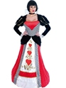 Adult Queen of Hearts Long Dress Costume Thumbnail