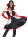 Adult Queen of Hearts Costume  - Back View - Thumbnail