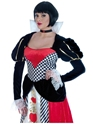 Adult Queen of Hearts Long Dress Costume  - Back View - Thumbnail
