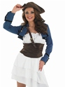 Adult Ra Ra Pirate Girl Costume  - Back View - Thumbnail