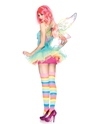 Adult Rainbow Fairy Costume  - Back View - Thumbnail