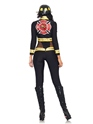 Adult Red Blaze Firefighter Costume  - Back View - Thumbnail