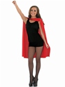 Adult Ladies Red Super Hero Cape  - Back View - Thumbnail