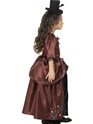 Child Red Vampiress Costume  - Side View - Thumbnail