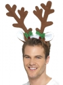 Reindeer Antlers Headband  - Back View - Thumbnail