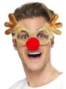 Reindeer Comedy Specs  - Back View - Thumbnail