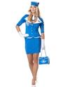 Retro Stewardess Costume  - Back View - Thumbnail