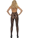 Adult Ribbon Print Body Stocking  - Side View - Thumbnail